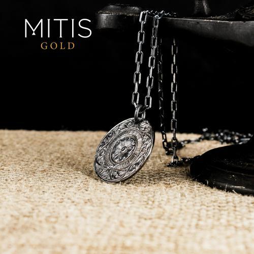 Bitkisel Orlementli Gümüş Kadın Kolye (Zincirli)