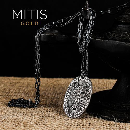 Elips Kadın Gümüş Kolye (zincirli)