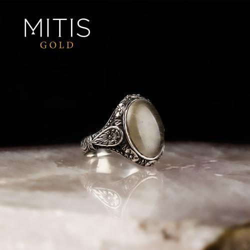 Selçuklu Tarzı Rutil Taşlı Gümüş Yüzük